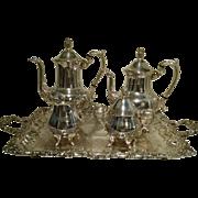 Taunton Silver Co. Sheridan Silver Plate Tea & Coffee Set