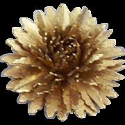 Vintage Multi-Petal Dahlia Figural Floral Brooch