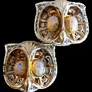Marcel Boucher Vintage 1948 Owl Earrings with MB Mark