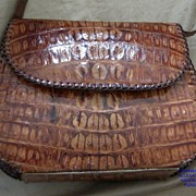 Vintage Hornback Alligator / Crocodile Shoulder Handbag..Saddle Stiched