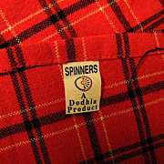 Red Check Plaid Acrylic Blanket By Spinners & Spinners..Nairobi..Excellent Condition