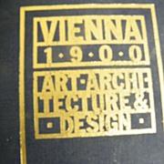 ART BOOK..VIENNA 1900..Art-Architecture & Design..MONA 1986..Very Good Condition
