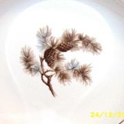 """Kyoto Japanese China Pine Cone  7 5/8"""" Soup Bowls [15 pcs.]"""