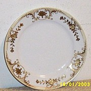 "Noritake 22- K Gold Hand- Painted Porcelain 8"" Plate... [6]"