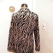 Faux Zebra Coat By DMBM...Store Tags..New Condition..Soft & Silky Faux Fur..Size Large