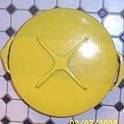 Vintage..DANSK Koben Style Large Stew Pot..Yellow Enamel