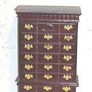 Vintage...NIB..English Style Chest-On-Chest..Cherry Mahogany