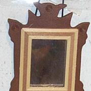 Vintage..NIB..1970's..Handmade Early American Wood Mirror By Shackman #3797..Japan