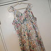 PARIS SLIP DRESS..Printed Silky Satin Paisley in Eastern Paisley Design..Lined..By Identity Paris..