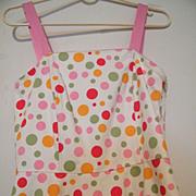 WONDER DOTS Sundress..Pink..Orange..Mint Dots..Size 4..Excellent Condition!