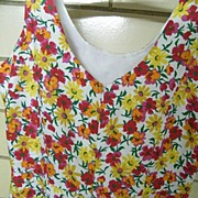 Tennis Dress Floral Pique With a Skort Skirt and Scooped Neckline..Hong Kong..Excellent Condition..Size 8