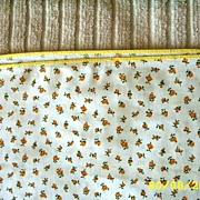 Yellow Trimmed Cotton Duvet Cover With White  Ground And Small Golden Yellow Roses