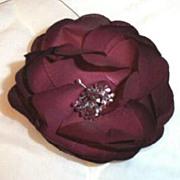 Vintage Millinery Burgundy Rose