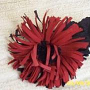 Vintage  Shaggy  Red  Dahlia