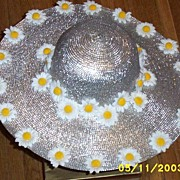 Daisy Silver Metallic Picture Hat