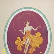 Antique Lithograph..Marcel LeBoulte..The Butterfly