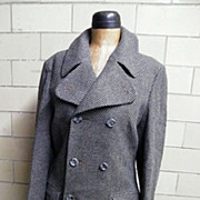 1960's MOD Men's Wool Coat.Tomorrow At Alexanders..Wool Pique Weave..Made In England..Excellent Condition!