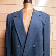 JHANE BARNES Men's Wool Jacket In Teal..Neiman Marcus Label..Size 42L..  Excellent Condition