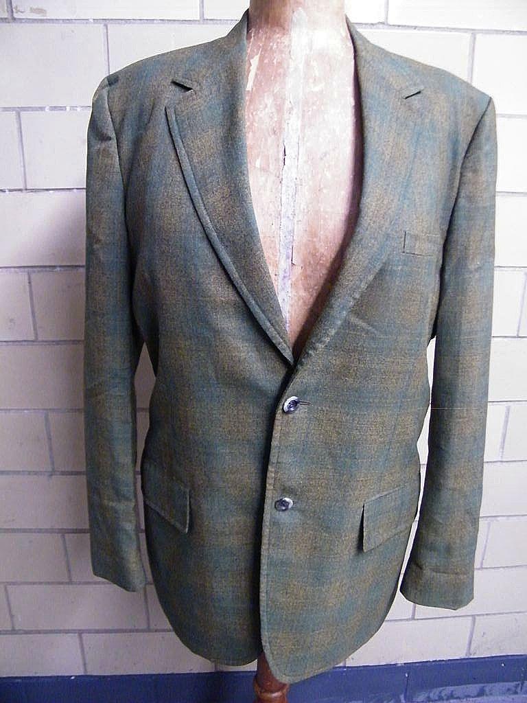 1960's..Men's Iridescent Wool Shadow Plaid Sports Jacket..Coat..Rockingham For Belk Tyler Square Shop