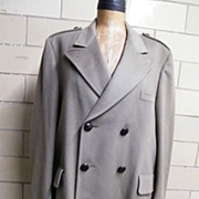 Vintage Men's Camel Color Military Style Coat By Daks London For Barney's New York