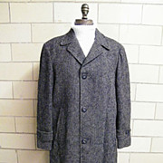 ROBERT HALL Men's Winter Coat..Zip-Out Wool Plaid Lining