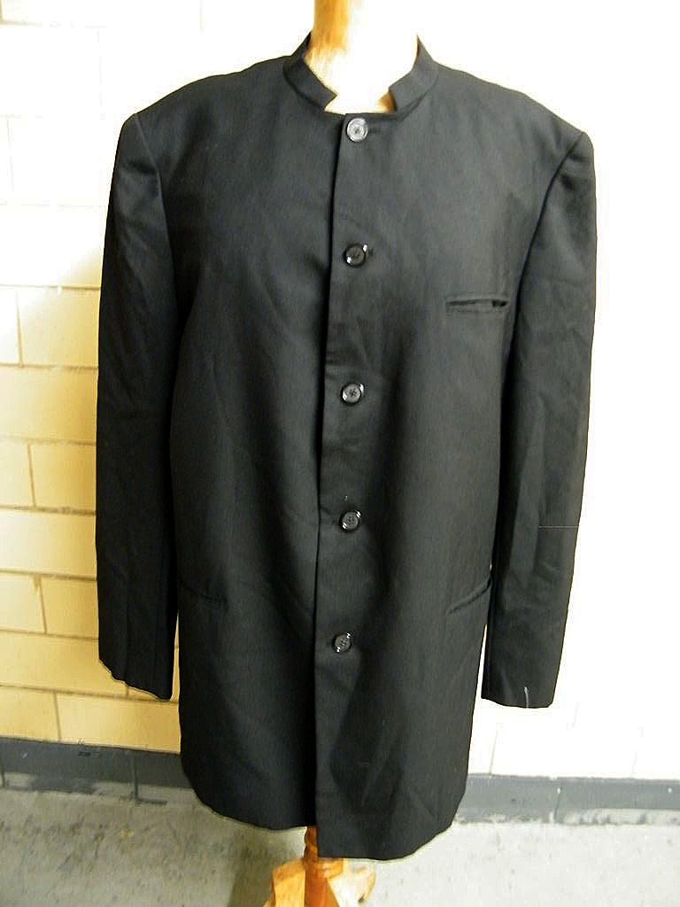 Designer..Men's NEHRU Tuxedo Jacket..Black Sharkskin Wool..Hand Tailored..Holland & Sherry Saville Row London
