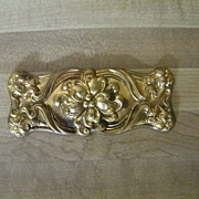 Vintage Brass Ormolu.Rectangular Shape..Floral..Embossed..New / Old Stock..3 Available