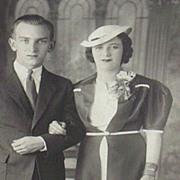 Vintage...Photo...1940's Portrait Of A Couple...Interesting!