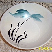 Earlton Pottery Cereal Bowl In The Turquoise Palm Tree Design [1]