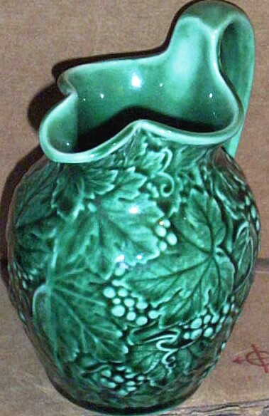 Vintage Wedgwood Of Etruria & Baralston..Green Grape Pitcher Creamer...New Condition
