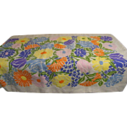 "Hand Made Wool Needlepoint Multi-Floral Rug, Throw. Wall-Hanging..Irish Linen Backing..55.5"""