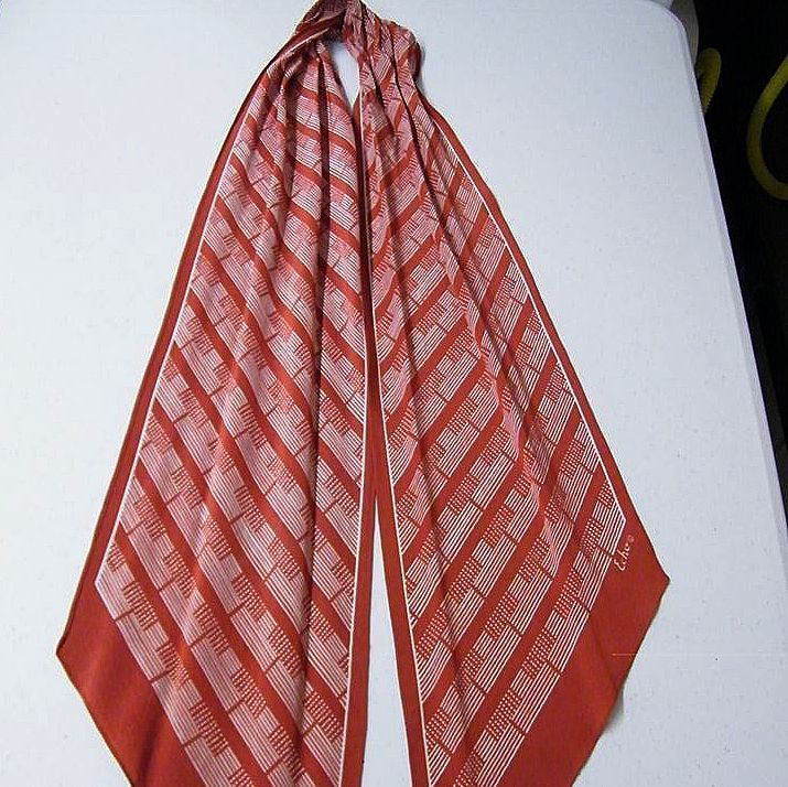 ECHO Scarf Collection Of Geometric Stripes..Art Deco Style Print..3 Colors Available