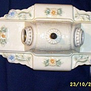 SALE PENDING Vintage Porcelier Double Light Ceiling Or Wall Sconce...Floral Accent