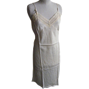 1940's ..Pale Beige Rayon Satin Full Slip..DEAD STOCK..Size 36..USA