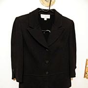 St John Knit 2-Piece Suit in Black Boucle..Excellent Condition..Size 2