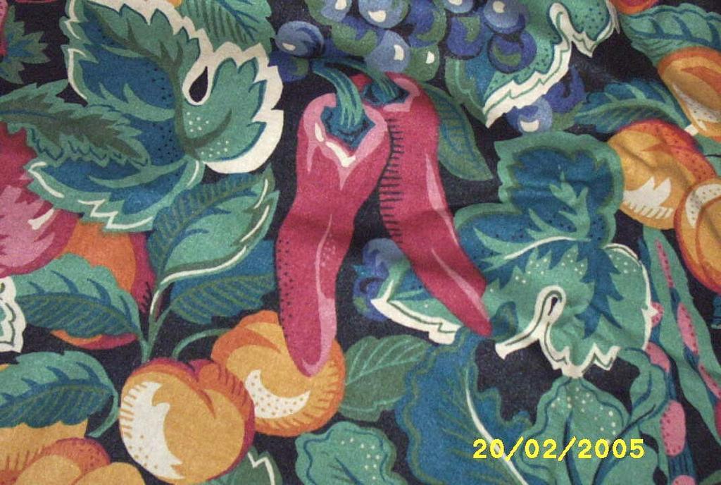 Sateen Tablecloth & Napkin Set Of Vegetables On Black Ground...Good Quality