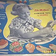 Vintage Toys...Rare..MIRRO Aluminum Bake Set..Original Box..Un-Used