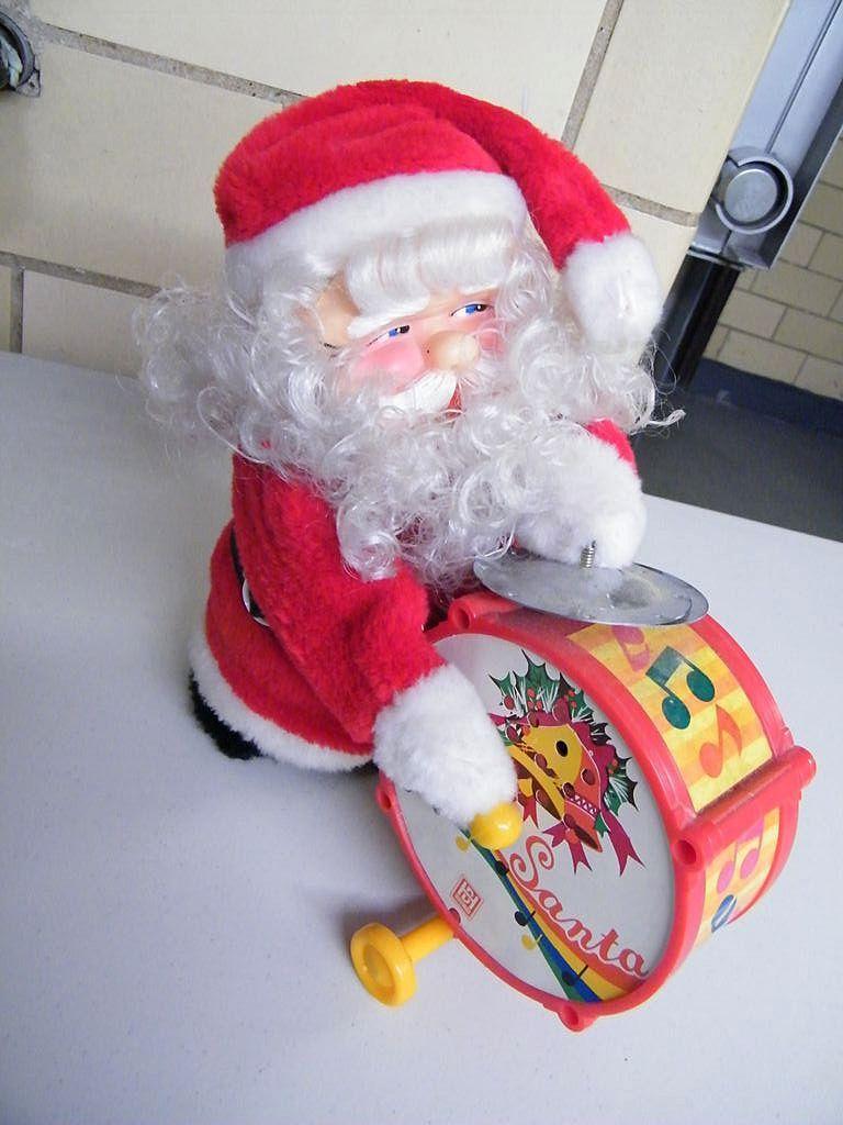 Vintage HAPPY SANTA Toy..NIB..Made in Taiwan..
