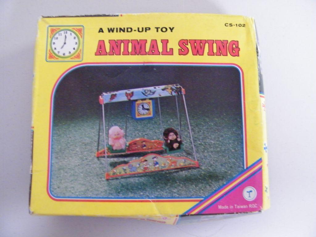 Vintage Wind-Up Animal Swing..NIB..Taiwan..
