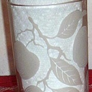 White Cherries Hanging From A Branch... Set Of 6 Tumblers...Drinking Glasses
