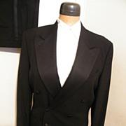 Vintage CALVIN KLEIN Black Tuxedo Suit--100% Wool--Excellent Condition
