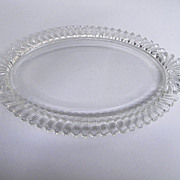 "SALE PENDING Thick Glass Vanity Tray...15"" X 9.5"""