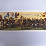 Antique RARE Original Victorian Oktoberfest Banner / Poster...Excellent Condition