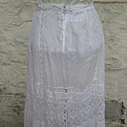 Edwardian Lace and Cotton Petticoat....