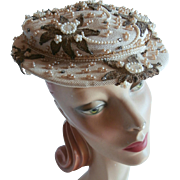 1940'S Designer Straw Hat...