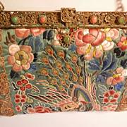 Oriental Silk Embroidered Purse...