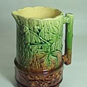 English Oak Leaf & Acorn Majolica Pitcher – Circa: Mid to Late 1800's
