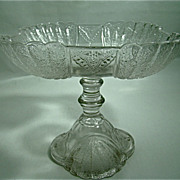 "EAPG Square Compote – Portland Glass Company – ""Shell and Tassel Pattern – Circa: 1860's"