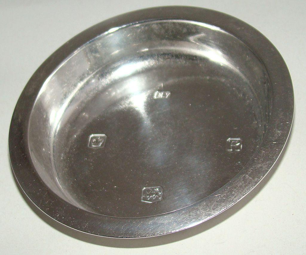 British Sterling Silver Pin or Trinket Dish –  Circa 1959