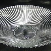Heisey Glass No. 1469 Ridgeleigh Pattern Fruit or Centerpiece Bowl 1935 - 1944